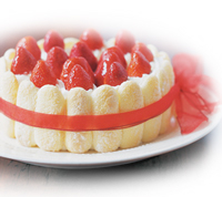 Strawberry Ribbon Ladyfinger Cake