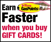 Gas Points Gift Cards