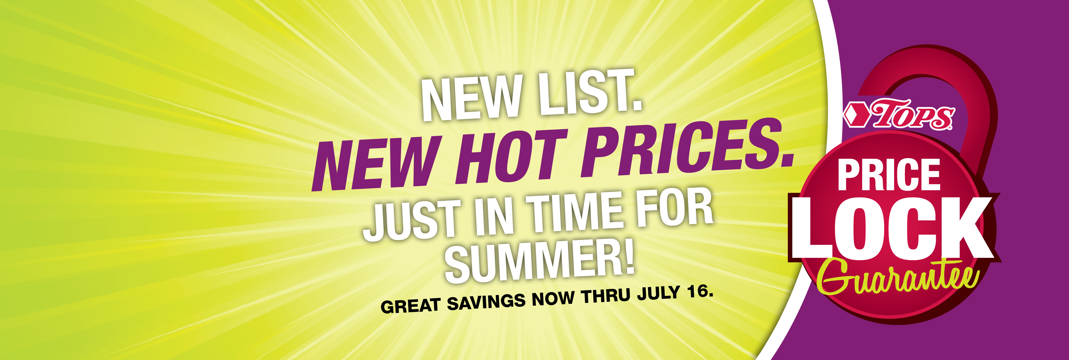 Price Locked Savings Now Thru July 16th