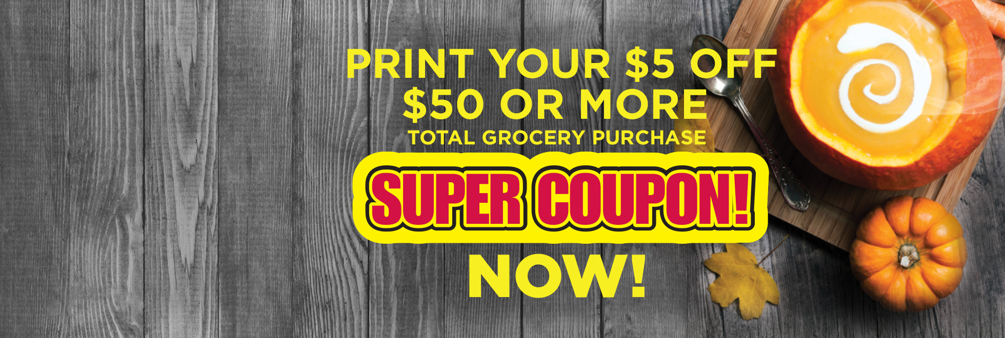 Exclusive $5 off $50 Super Coupon