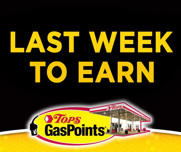 Last Week to Earn TOPS GasPoints