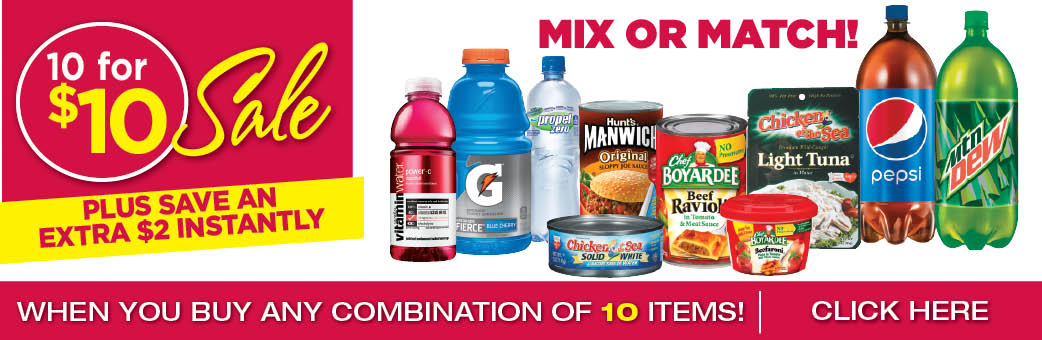 10 For $10 Grocery Items - Mix Or Match
