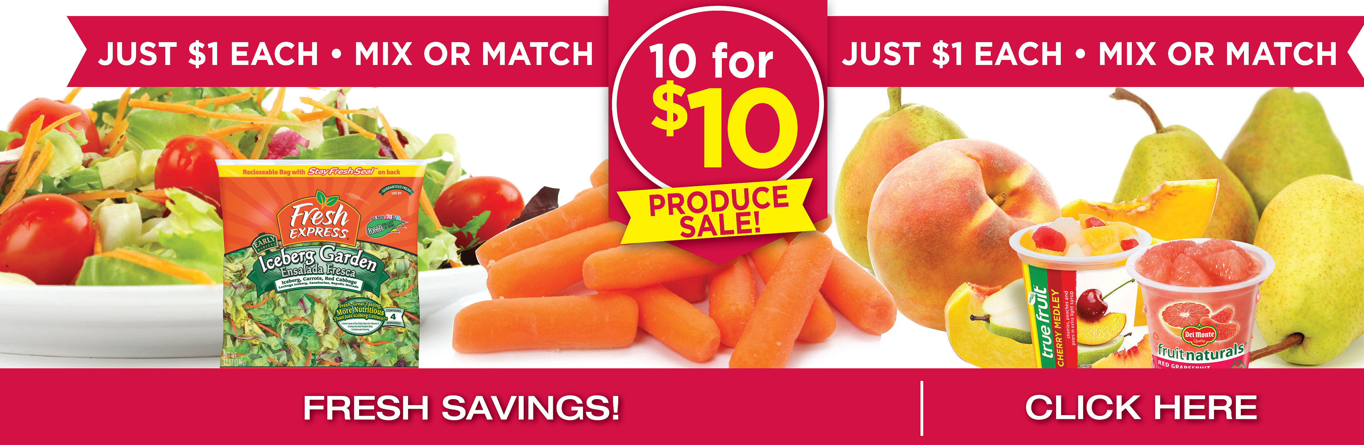 10 For $10 </br>Produce Items Mix or Match