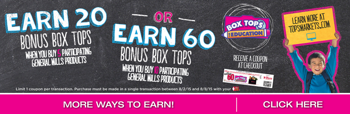 Earn Box Tops For Education