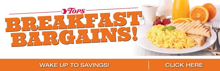 TOPS Breakfast Bargains