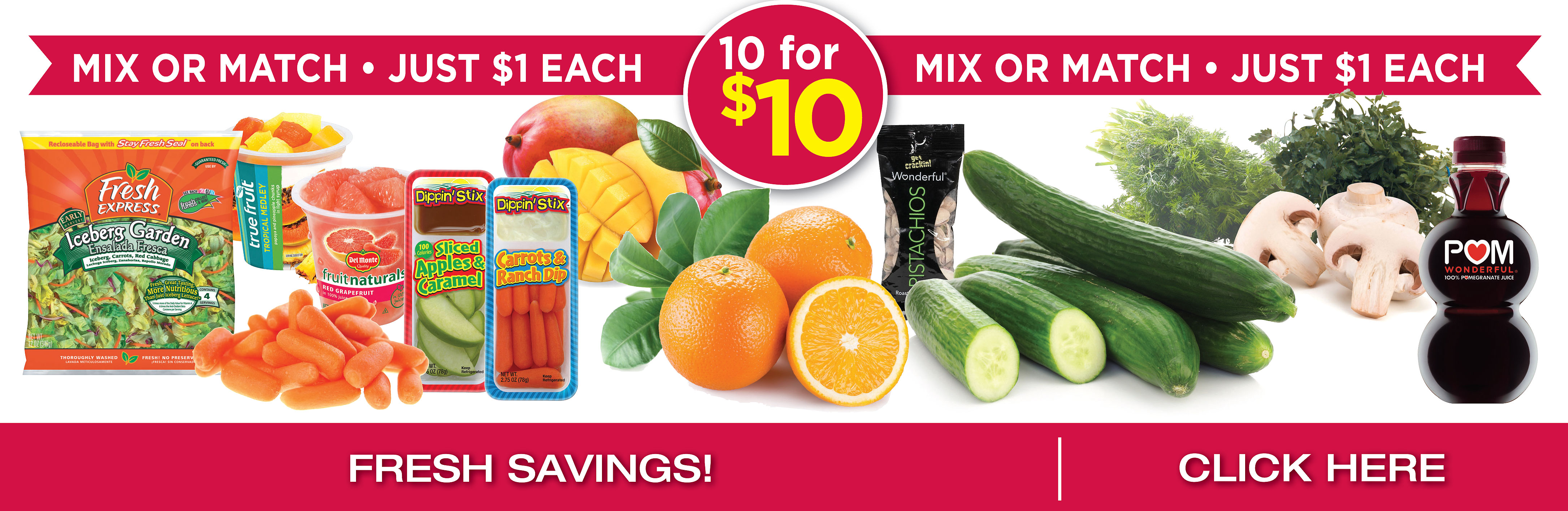 10 For $10 Produce Items - Mix Or Match