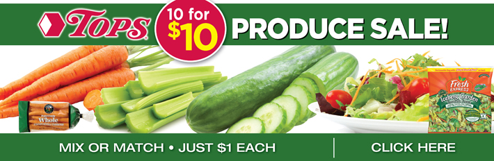 Produce 10 For $10 Sale