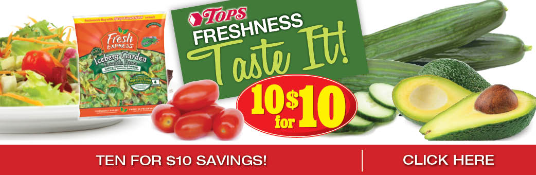 Fresh 10 for $10 Sale