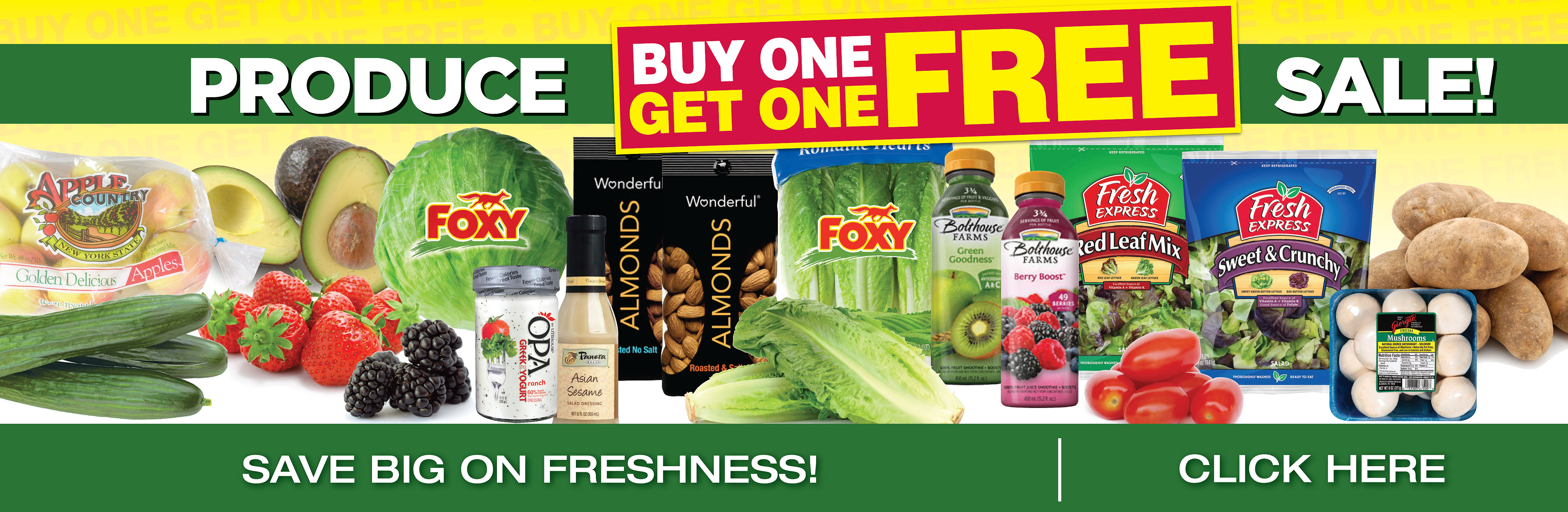 Produce Buy One Get One Free Sale