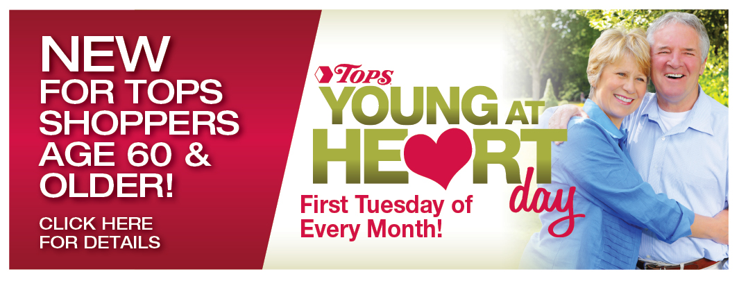 Young At Heart is Tuesday, September 2<sup>nd</sup> at TOPS