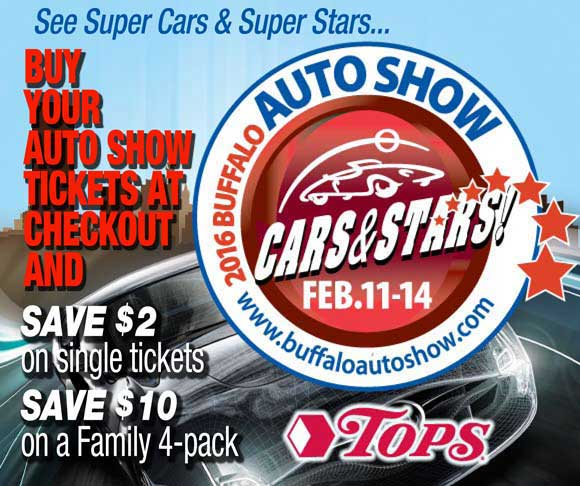 Buffalo Auto Show Discount Tickets at TOPS