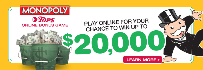 TOPS Online Bonus Game