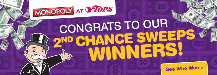 Monopoly 2nd Chance Sweeps Winners