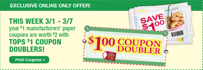 SCoupon Doublers Online Offer Only